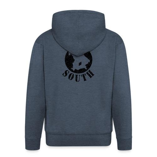 Down_South schwarz auf Wunsch auch andere Farben - Männer Premium Kapuzenjacke