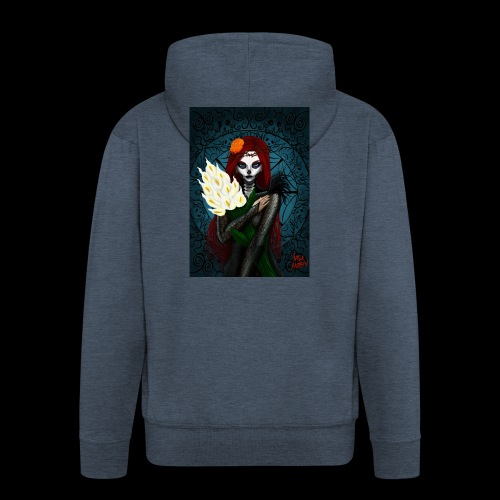 Death and lillies - Men's Premium Hooded Jacket