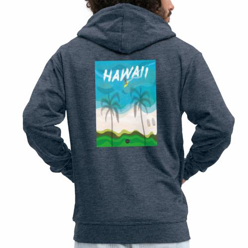 Hawaii - Men's Premium Hooded Jacket