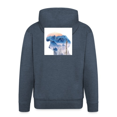 Süsser Hund - Männer Premium Kapuzenjacke