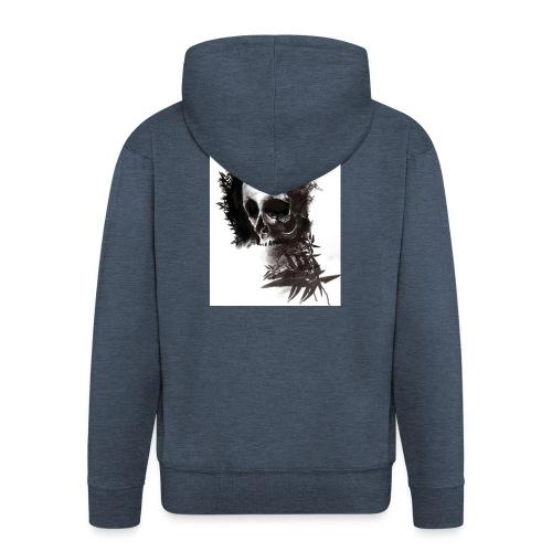 skull leaf - Felpa con zip Premium da uomo
