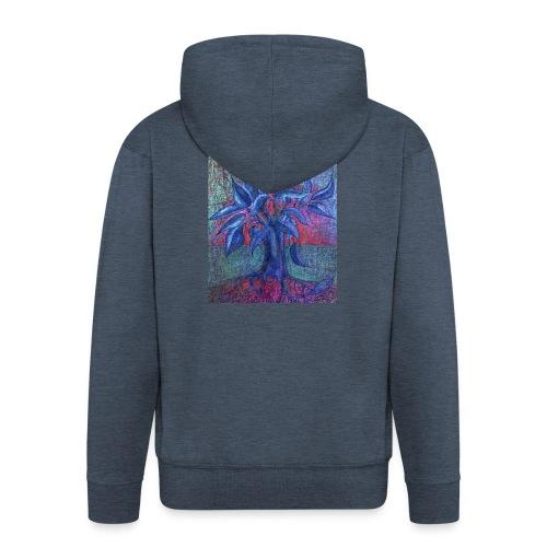 Trees Flower - Rozpinana bluza męska z kapturem Premium