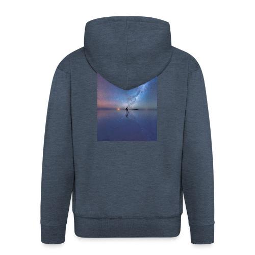 Człowiek i kosmos 6s - Rozpinana bluza męska z kapturem Premium