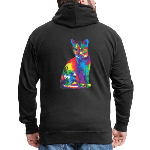 Katze - Männer Premium Kapuzenjacke