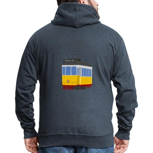 Tram car yellow - Men's Premium Hooded Jacket