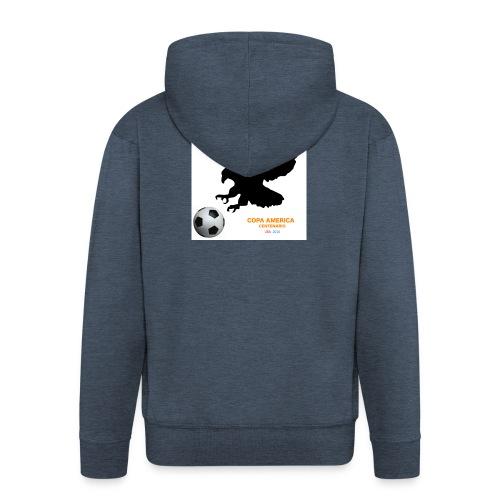 Aguila norteamericana con balón de fútbol - Chaqueta con capucha premium hombre