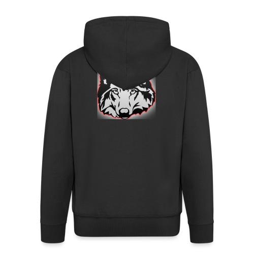 Wolfie (Red) - Men's Premium Hooded Jacket