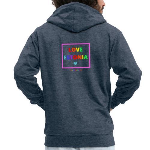LOVE ESTONIA rainbow - Men's Premium Hooded Jacket