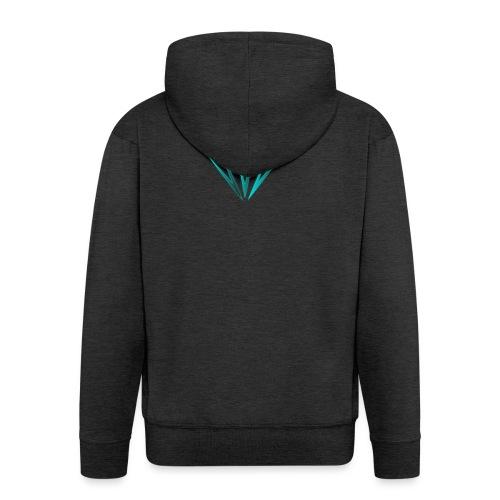 diamante - Felpa con zip Premium da uomo
