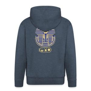 Tutanchamun (zweifarbig) - Männer Premium Kapuzenjacke