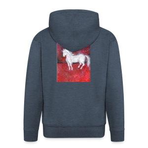Pony - Rozpinana bluza męska z kapturem Premium