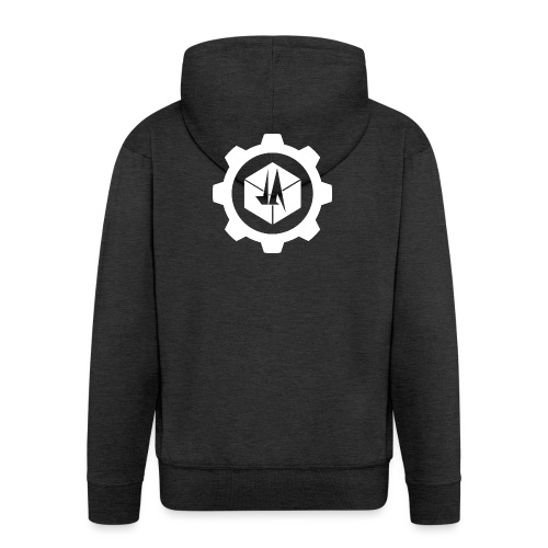 Jebus Adventures Cog White - Men's Premium Hooded Jacket