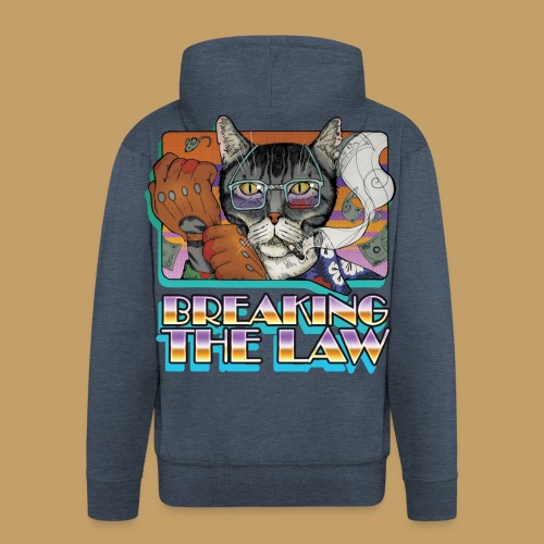 Crime Cat- Breaking the Law - Rozpinana bluza męska z kapturem Premium