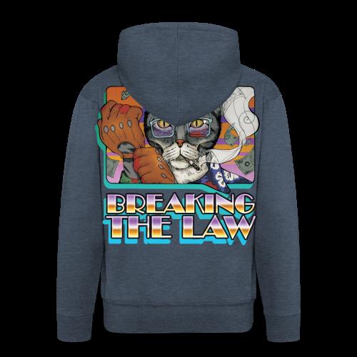 Crime Cat- Breaking the Law - Rozpinana bluza męska z kapturem Premium
