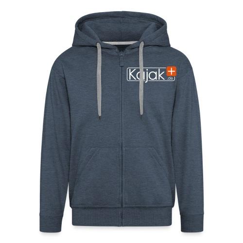 Logo ohne de weiß längs k - Männer Premium Kapuzenjacke