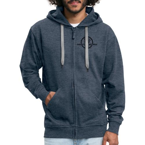 Parvati Records steampunk logo - Men's Premium Hooded Jacket