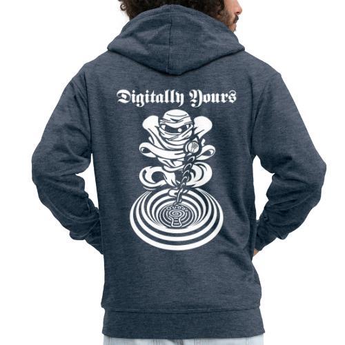 Digitally Yours - Men's Premium Hooded Jacket