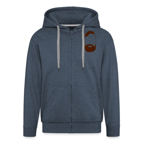 The Mighty Beard - Men's Premium Hooded Jacket