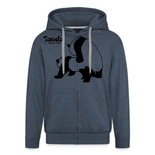 Panda F**k Pullover - Männer Premium Kapuzenjacke