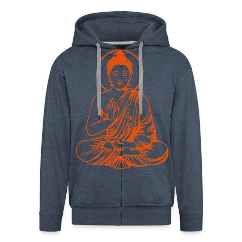 Buddha-Vektor-Outline - Männer Premium Kapuzenjacke