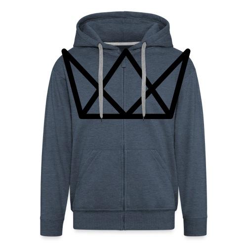 TKG Krone schwarz CMYK - Männer Premium Kapuzenjacke