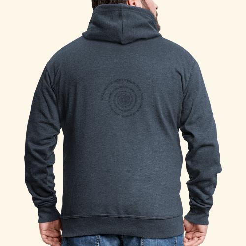 SPIRAL TEXT LOGO BLACK IMPRINT - Men's Premium Hooded Jacket