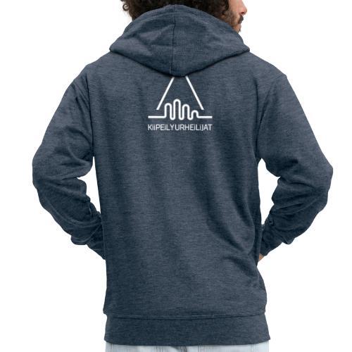 'Kiipeilyurheilijat' Logo White - Miesten premium vetoketjullinen huppari