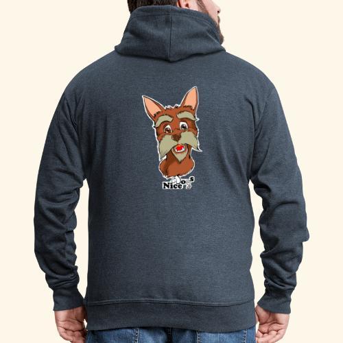 Nice Dogs schnauzer - Felpa con zip Premium da uomo