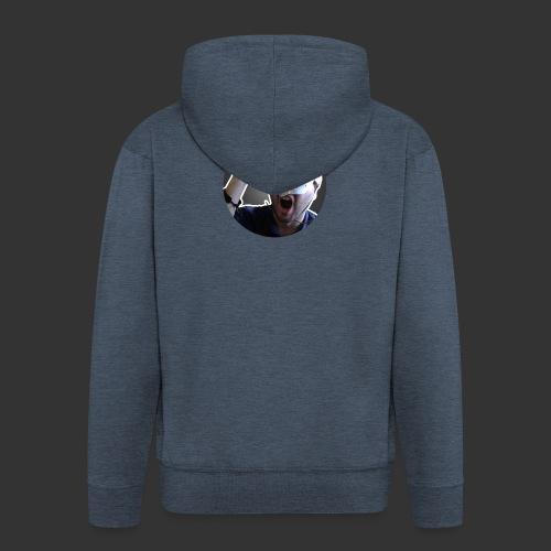 Logo kanału wicek3d na Youtube - Rozpinana bluza męska z kapturem Premium