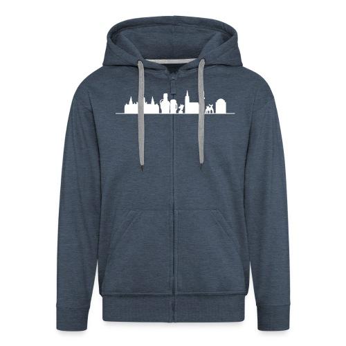 Skyline Hannover - Männer Premium Kapuzenjacke