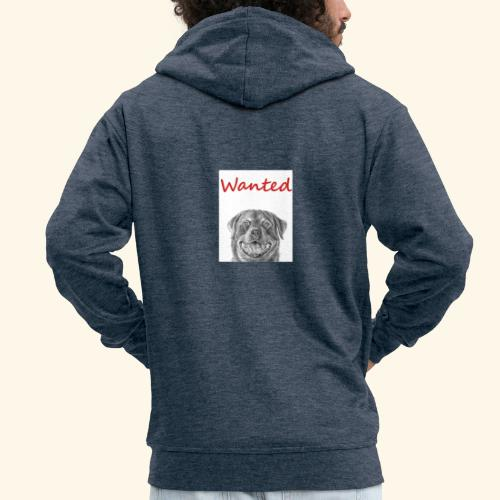 WANTED Rottweiler - Men's Premium Hooded Jacket