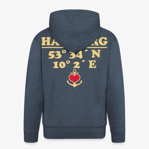 HAMBURG Koordinaten Anker 2c A / Längengrad - Männer Premium Kapuzenjacke
