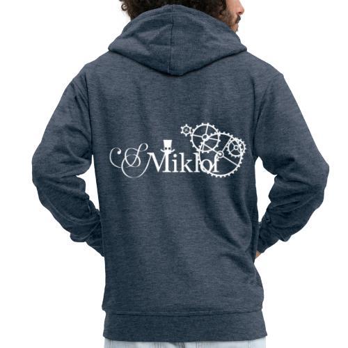 miklof logo white 3000px - Men's Premium Hooded Jacket