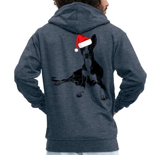 Weihnachten Podenco Hunde Geschenkidee - Männer Premium Kapuzenjacke