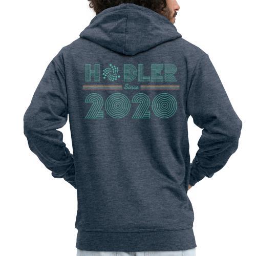 IOTA Hodler since 2020 - Männer Premium Kapuzenjacke