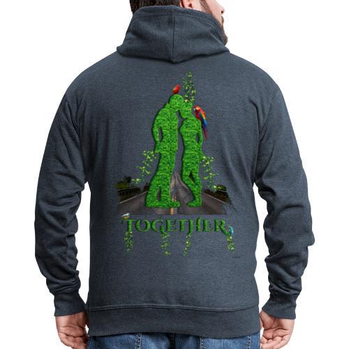 Together love nature by T-shirt chic et choc - Veste à capuche Premium Homme