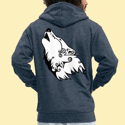 Le Loup de Neved (version blanche) - Veste à capuche Premium Homme