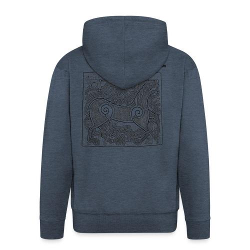 Transparent Beastie - Men's Premium Hooded Jacket