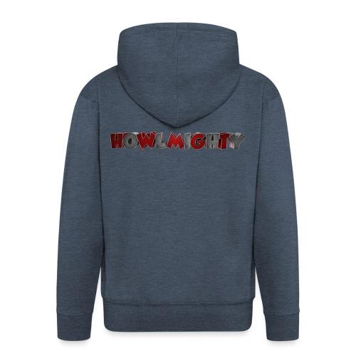 Howlmighty Red - Felpa con zip Premium da uomo