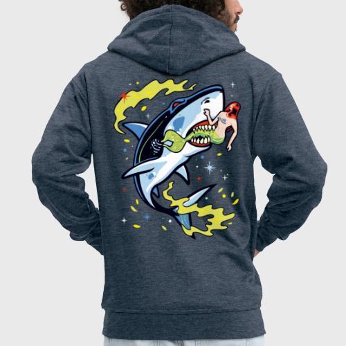 Requin mangeur de sirène - Veste à capuche Premium Homme