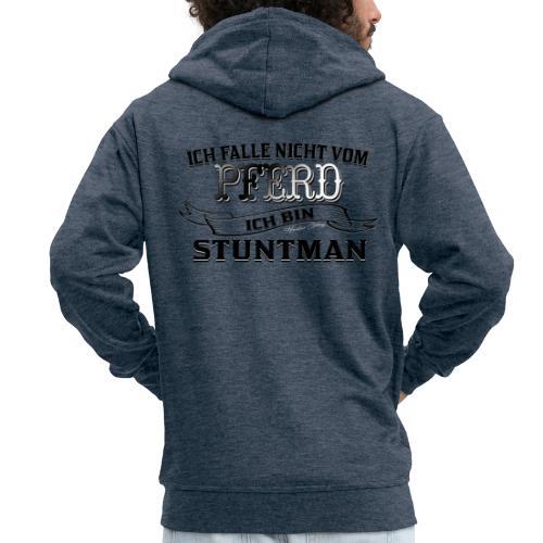 Ich falle nicht vom Pferd ich bin Stuntman Reiten - Männer Premium Kapuzenjacke
