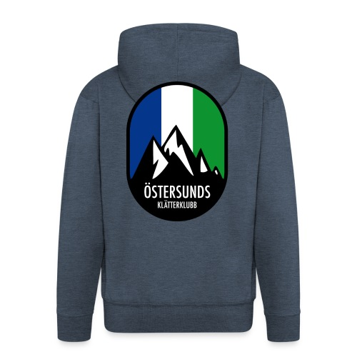 Östersunds klätterklubb, logga - Premium-Luvjacka herr