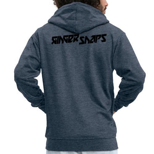 Ginger Snap5 logo (one line black) - Men's Premium Hooded Jacket