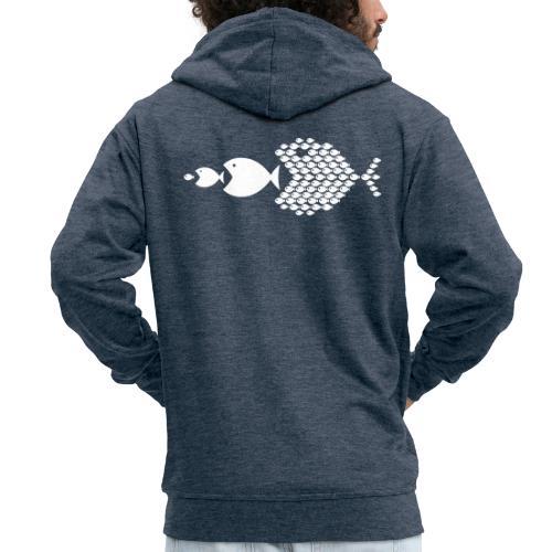poissons mer vacances - Veste à capuche Premium Homme