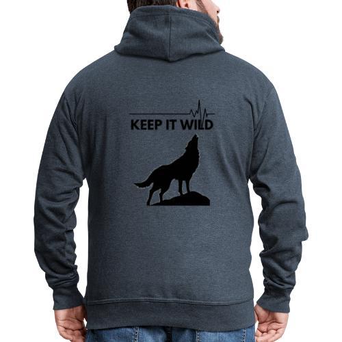Keep it wild - Männer Premium Kapuzenjacke