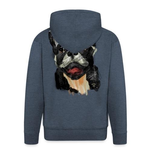 French Bulldog Portrait - lebendig und urban - Männer Premium Kapuzenjacke
