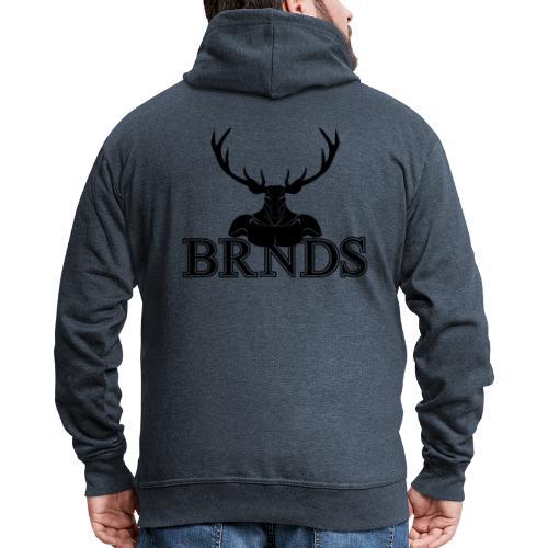 BRNDS - Felpa con zip Premium da uomo