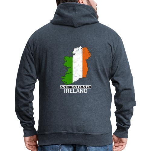Straight Outta Ireland (Eire) country map flag - Men's Premium Hooded Jacket