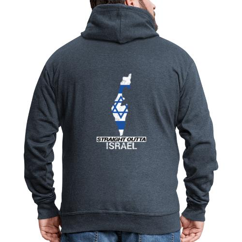 Straight Outta Israel country map & flag - Men's Premium Hooded Jacket