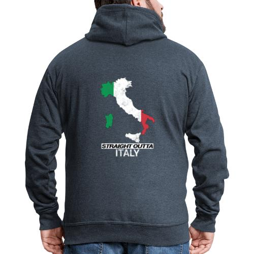 Straight Outta Italy (Italia) country map flag - Men's Premium Hooded Jacket